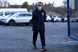 Erhun Oztumer of Bristol Rovers arrives at Memorial Stadium prior to kick off - Mandatory by-line: Ryan Hiscott/JMP - 27/10/2020 - FOOTBALL - Memorial Stadium - Bristol, England - Bristol Rovers v Hull City - Sky Bet League One