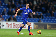 Joe Ralls of Cardiff City in action. EFL Skybet championship match, Cardiff city v Ipswich Town at the Cardiff city stadium in Cardiff, South Wales on Tuesday 31st October 2017.<br /> pic by Andrew Orchard, Andrew Orchard sports photography.
