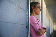 Linda Wells, who is disabled, and has no place to go, cries, as she tells how she was given until 3:30 p.m. Friday to move out of Southern Winds, or the authorities would be called to make her get out. (Photo by Jeremy Hogan)