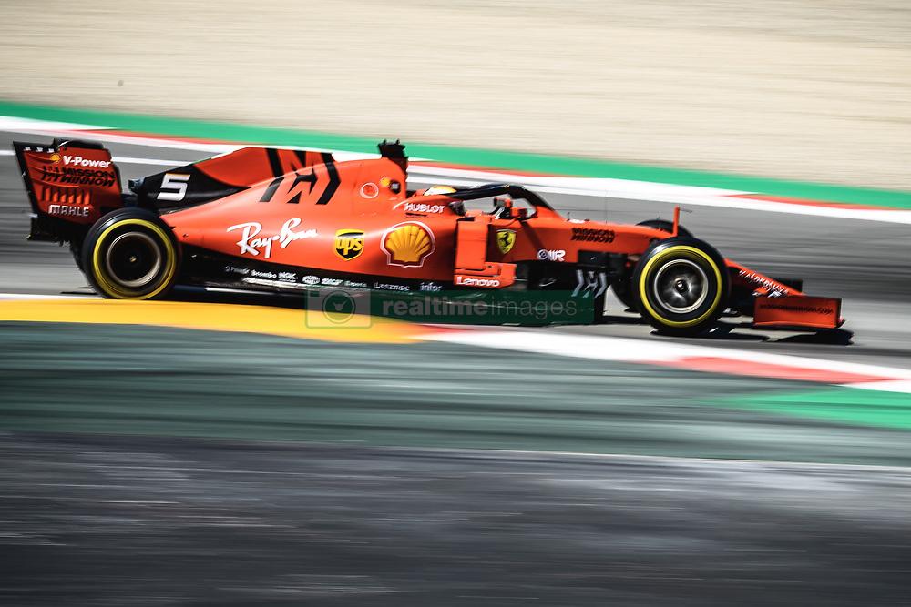 May 12, 2019 - Barcelona, Catalonia, Spain - SEBASTIAN VETTEL (GER) from team Ferrari drives in his SF90 during the Spanish GP at Circuit de Catalunya (Credit Image: © Matthias OesterleZUMA Wire)
