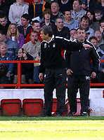 Photo: Dave Linney.<br />Nottingham Forest v Bournemouth. Coca Cola League 1. 29/04/2006.Forest joint catretaker mgr Frank Burrows