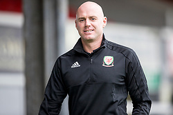 NEWPORT, WALES - Tuesday, October 16, 2018: Wales' manager Rob Page arrives ahead of the UEFA Under-21 Championship Italy 2019 Qualifying Group B match between Wales and Switzerland at Rodney Parade. (Pic by Laura Malkin/Propaganda)