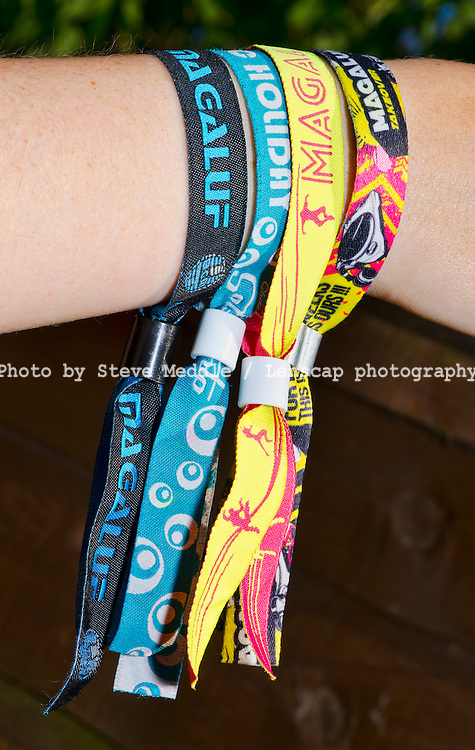 Wristbands for Bars and Clubs in Magaluf, Majorca, Spain - Jul 2013.