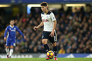 Son Heung-Min of Tottenham Hotspur in action. Premier league match, Chelsea v Tottenham Hotspur at Stamford Bridge in London on Saturday 26th November 2016.<br /> pic by John Patrick Fletcher, Andrew Orchard sports photography.