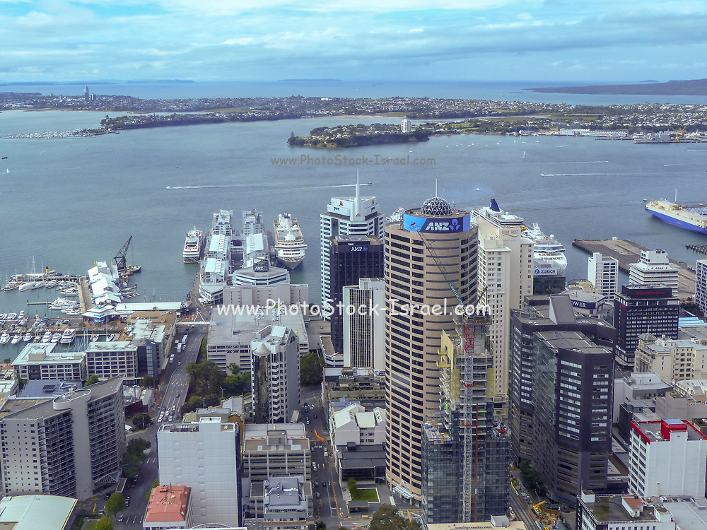 Harbour and Auckland City cityscape, North Island, New Zealand