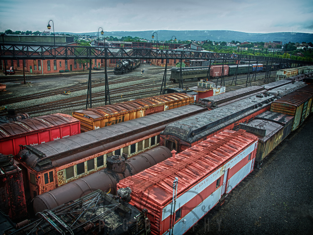 The railyard at Steamtown, USA, National Park.