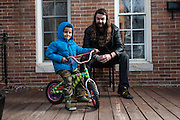 BALTIMORE, MD -- 12/22/14 -- Benjamin Jancewicz, 31, a designer from Baltimore, with his son, Arion Jancewicz, 6, talks about the complexity of being a biracial family.…by André Chung #_AC23763