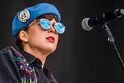 La Femme perform on the Obelisk Stage - The 2018 Latitude Festival, Henham Park. Suffolk 13 July 2018