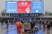 General shots outside Beijing Train Station