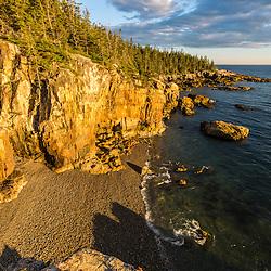 Cobble beach near Raven's Nest on the Schoodic Peninsula in Maine's Acadia National Park.