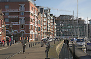 Salthouse Harbour hotel. Urban redevelopment of docks, Ipswich Wet Dock, Suffolk, England