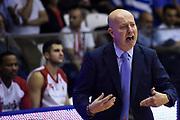 Menetti Massimiliano<br /> Grissin Bon Pallacanestro Reggio Emilia - VL Pesaro<br /> Lega Basket Serie A 2017/2018<br /> Reggio Emilia, 08/10/2017<br /> Foto A.Giberti / Ciamillo - Castoria