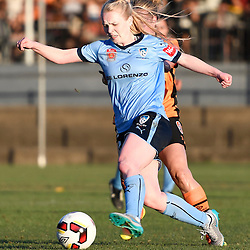 BRISBANE, AUSTRALIA - OCTOBER 30: Elizabeth Ralston of Sydney controls the ball during the round 1 Westfield W-League match between the Brisbane Roar and Sydney FC at Spencer Park on November 5, 2016 in Brisbane, Australia. (Photo by Patrick Kearney/Brisbane Roar)