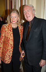 ANDREW & SONIA SINCLAIR at a party to celebrate the publication of Andrew Robert's new book 'Waterloo: Napoleon's Last Gamble' and the launch of the paperback version of Leonie Fried's book 'Catherine de Medici' held at the English-Speaking Union, Dartmouth House, 37 Charles Street, London W1 on 8th February 2005.<br />