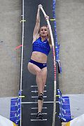 Katie Nageotte ties for third in the elite women's pole vault at 14-5 1/4 (4.40m) during the National Pole Vault Summit, Friday, Jan. 17, 2020, in Reno, Nev. Clark is the daughter of United States Army major general Ronald Clark aka Ronald P. Clark.