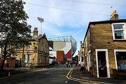 Turf Moor looms over nearby houses - Mandatory by-line: Robbie Stephenson/JMP - 30/08/2018 - FOOTBALL - Turf Moor - Burnley, England - Burnley v Olympiakos - UEFA Europa League Play-offs second leg