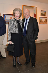 RAINE, COUNTESS SPENCER and LORD FELLOWES at a private view of work by artist Philip Bouchard at 508 Gallery, 508 King's Road, London on 3rd April 2014.