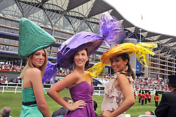 Racegoers at the 3rd day of Royal Ascot 2009 on 18th June 2009.