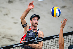 Clemens Wickler GER in action during the third day of the beach volleyball event King of the Court at Jaarbeursplein on September 11, 2020 in Utrecht.