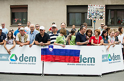 Fans during 5th Time Trial Stage of 25th Tour de Slovenie 2018 cycling race between Trebnje and Novo mesto (25,5 km), on June 17, 2018 in  Slovenia. Photo by Vid Ponikvar / Sportida