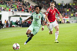 September 3, 2017 - Budapest, Hungary - Gelson Martins of Portugal fights for the ball with Mihaly Korhut of Hungary during the FIFA World Cup 2018 Qualifying Round match between Hungary and Portugal at Groupama Arena in Budapest, Hungary on September 3, 2017  (Credit Image: © Andrew Surma/NurPhoto via ZUMA Press)