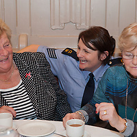 Garda Sandra Heenan having a laugh with some local women at the Ennis Garda Christmas Party for the Elderly at the Temple Gate Hotel on Thursday