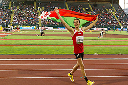 mens high jump,  Dzmitry Nabokau, Belarus, 2nd, victory lap
