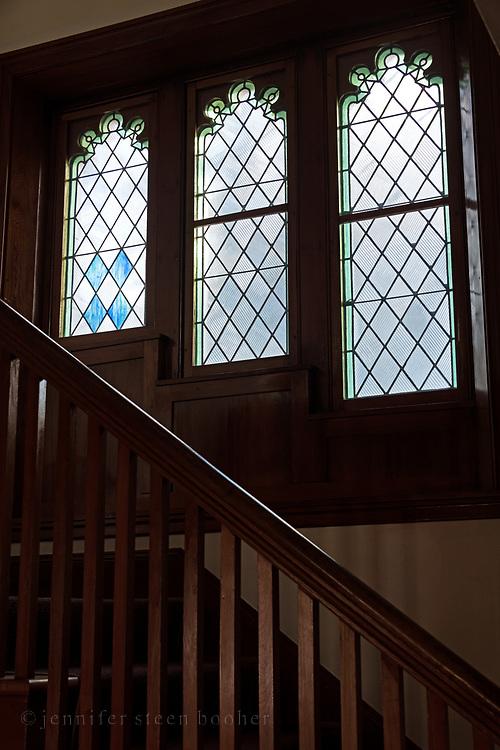 "The panels from right to left: 16""w x 38""h; 16""w x 46""h; 16""w x 52""h<br /> <br /> St. Edward's Convent, Bar Harbor, Maine."