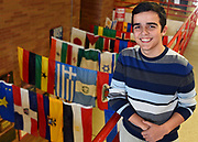 South High senior Deni Hoxha, 18, started refugee assistance club at school on Friday, March 10, 2017. <br /> <br /> [T&G Staff/Christine Hochkeppel]