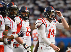 during the second half of the Ole Miss vs. TCU Chick-fil-A Peach Bowl football game at the Georgia Dome on December 31, 2014. David Tulis / Abell Images for the Chick-fil-A Bowl
