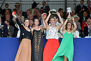 Henley, GREAT BRITAIN. [The Princess Grace Challenge Cup (W4x)]  AUS. collect their Prize from The Rt. Hon. The Lord Mayor of London. Alderman David WOTTON  at 2012 Henley Royal Regatta...Sunday  17:57:41  01/07/2012. [Mandatory Credit, Peter Spurrier/Intersport-images]...Rowing Courses, Henley Reach, Henley, ENGLAND . HRR.