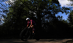 Connie Hayes of AWOL O'Shea during the Stage Three Individual Time Trial of the AJ Bell Women's Tour in Atherstone, UK. Picture date: Wednesday October 6, 2021.
