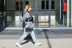 Fashion: street style at Milan Fashion Week 2017 outside of the Atsushi Nakashima show in Milan on September 20, 2017. 20 Sep 2017 Pictured: Street style at Milan Fashion Week 2017 outside of the Atsushi Nakashima show in Milan on September 20, 2017. Photo credit: Stefano Costantino / MEGA TheMegaAgency.com +1 888 505 6342