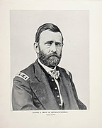 """Lieutenant-General Ulysses S. Grant 1864 from The American Civil War book and Grant album : """"art immortelles"""" : a portfolio of half-tone reproductions from rare and costly photographs designed to perpetuate the memory of General Ulysses S. Grant, depicting scenes and incidents in connection with the Civil War Published  in Boston and New York by W. H. Allen in 1894"""