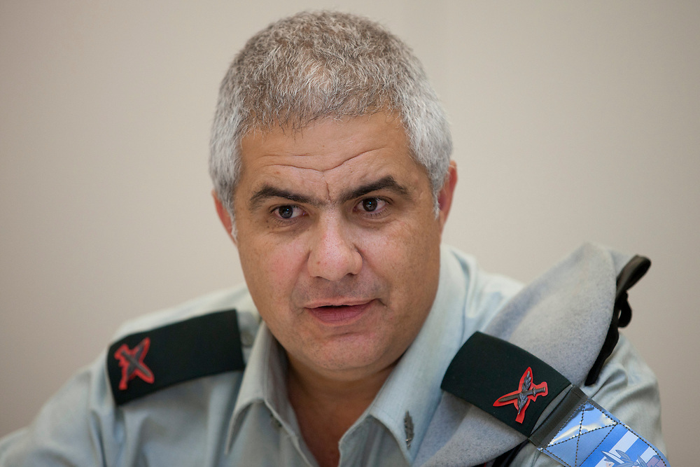 A portrait of Head of the Civil Administration in the Judea and Samaria region, Brigadier-General Moti Almoz in Jerusalem on August 3, 2011.