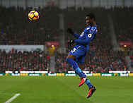 Daniel Amartey of Leicester City during the English Premier League match at the Bet 365 Stadium, Stoke on Trent. Picture date: December 17th, 2016. Pic Simon Bellis/Sportimage