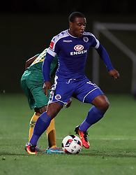 Thuso Phala of SuperSport United during the 2016 Premier Soccer League match between Golden Arrows and Supersport United held at the Princess Magogo Stadium in Durban, South Africa on the 28th September 2016<br /> <br /> Photo by:   Steve Haag / Real Time Images