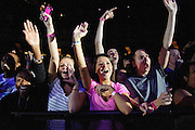 Fans cheering at the start of Sarah Green's performance at the Chaifetz Arena on September 29, 2011. Photo by Todd Owyoung.