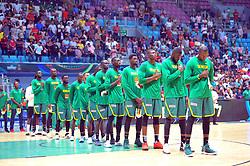 September 15, 2017 - Tunis, Tunisia - The Senegal team during the semi-final of FIBA AfroBasket 2017....Afrobasket 2017: Semifinal: Senegal eliminated by Nigeria who find Tunisia in the final  (Credit Image: © Chokri Mahjoub via ZUMA Wire)