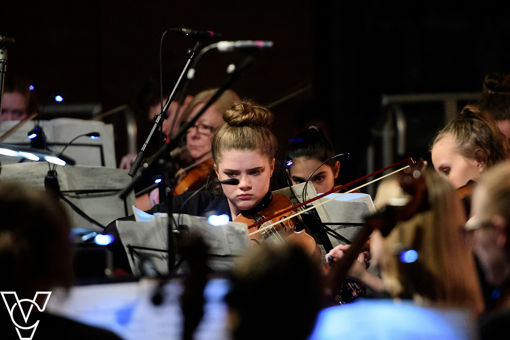Lincolnshire Youth Symphony Orchestra.<br /> <br /> Lincolnshire Music Service's County Groups showcase concert, held at the Engine Shed, Lincoln.<br /> <br /> Picture: Chris Vaughan Photography for Lincolnshire Music Service<br /> Date: April 12, 2019
