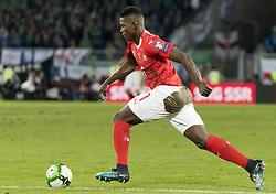 November 12, 2017 - Basel, Schweiz - Basel, 12.11.2017, Fussball WM Qualifikation Playoff, Schweiz - Nordirland, Breel Embolo (SUI) (Credit Image: © Pascal Muller/EQ Images via ZUMA Press)