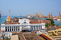 Sri Lanka, province de l'Ouest, Colombo, vieille ville, le Fort, vue sur le port // Sri Lanka, Colombo, Old city, Fort, Old Harbour