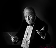 Lehigh Valley Pops Orchestra conductor George Fennell at home in Allentown, Pa..<br /> - Photography by Donna Fisher<br /> - ©2020 - Donna Fisher Photography, LLC <br /> - donnafisherphoto.com