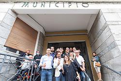 PIERLUIGI NEGRI FESTEGGIA LA VITTORIA IN MUNICIPIO<br /> ELEZIONI AMMINISTRATIVE 2020 COMACCHIO