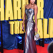 """Zaria Simone attended """"The Harder They Fall"""" Opening Night Gala - 65th BFI London Film Festival, Southbank Centre, London, UK. 6 October 2021."""