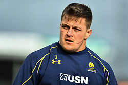 Nick Schonert of Worcester Warriors during the pre match warm up - Mandatory by-line: Craig Thomas/JMP - 10/02/2018 - RUGBY - Sandy Park Stadium - Exeter, England - Exeter Chiefs v Worcester Warriors - Aviva Premiership