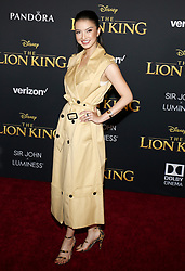 Raline Shah at the World premiere of 'The Lion King' held at the Dolby Theatre in Hollywood, USA on July 9, 2019.