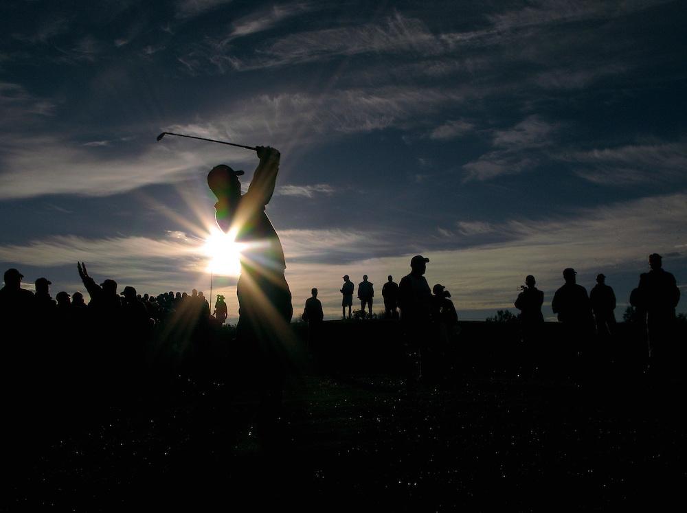 Tiger Woods, photographed in Marana, Arizona, February, 2008. Photograph by Darren Carroll.