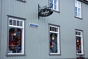 Stofan cafe restaurant in Vesturgata - in the old town area of capital city of Reykjavik, Iceland