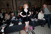 NICOLA ROBERTS, VIVIENNE WESTWOOD RED LABEL FASHION SHOW, Royal Courts of Justice. The Strand. London. 21 February 2010<br /> NICOLA ROBERTS, VIVIENNE WESTWOOD RED LABEL FASHION SHOW, Royal Courts of Justice. The Strand. London. 21 February 2010 *** Local Caption *** -DO NOT ARCHIVE-© Copyright Photograph by Dafydd Jones. 248 Clapham Rd. London SW9 0PZ. Tel 0207 820 0771. www.dafjones.com.